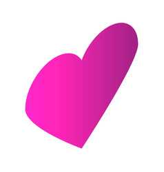pink heart icon isometric style vector image