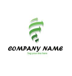 Recycling storm logo vector