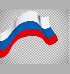 Russian flag on transparent background vector