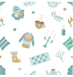 scandinavian pattern with different elements vector image