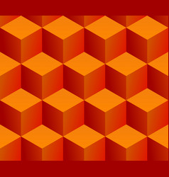 Seamless pattern stacked isometric orange cubes vector