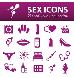 Sex icons vector