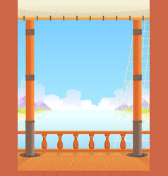 Ship deck game background vector