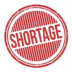 shortage grunge rubber stamp vector image