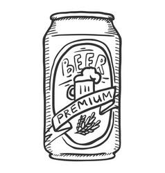 sketch can premium beer vector image