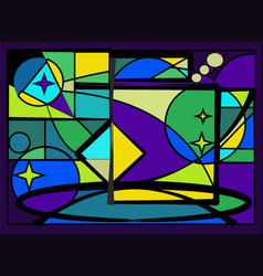 stained glass window - 18-94 vector image