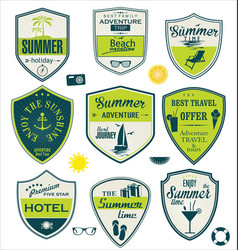 summer badges 2 vector image