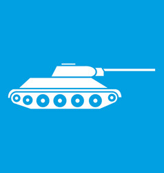 tank icon white vector image