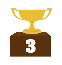 Third place cup trophy icon graphic vector