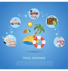 Travel Insurance Infographics vector