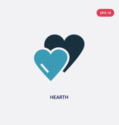 Two color hearth icon from user interface concept vector