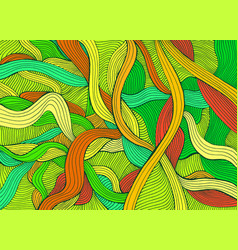 Variegated abstract lines art pattern rainbow vector