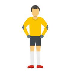 Waiting goalkeeper icon flat style vector