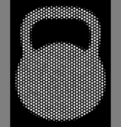 white halftone weight icon vector image