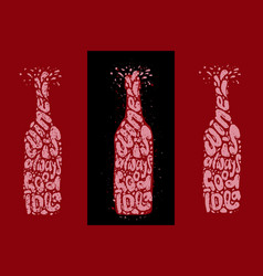 wine is always good idea hand draw lettering in vector image
