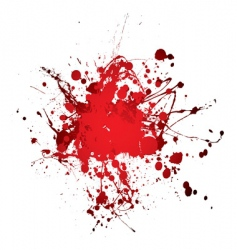 blood splat splat vector image vector image