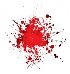 blood splat splat vector image