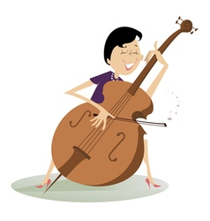 Cellist woman vector image