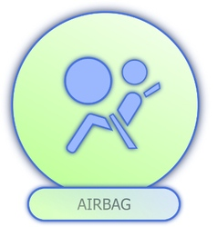 Commercial icons and symbols of car parts - airbag vector