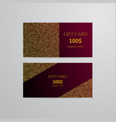 gift cards with gold vector image vector image