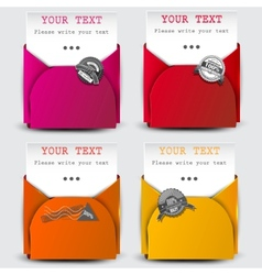 paper sheets with envelopes vector image vector image