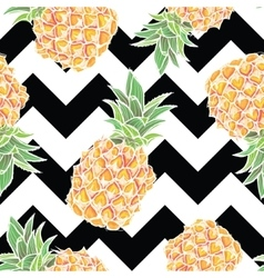 Seamless pattern with pineapple in vector image