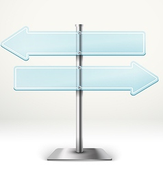 Blank metal glass arrow boards Template for a text vector image vector image
