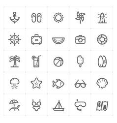 mini icon set - beach icon vector image vector image