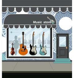 Music store vector image