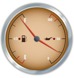 Retro fuel and oil gauge icon vector image vector image