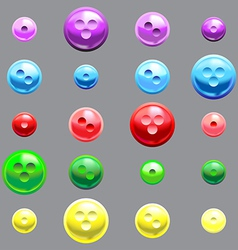 Set of glossy button vector