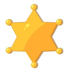 Sheriff Star vector image