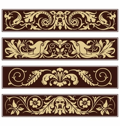 Victorian Ornamental Vintage Decoration Border vector image
