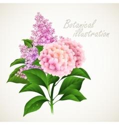 Botanical Vintage floral card vector image vector image