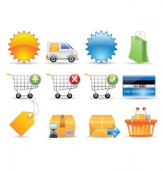 collection icons vector image vector image