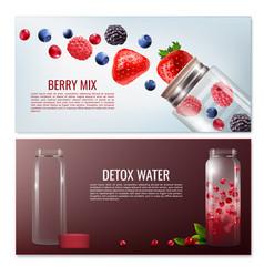 detox beverages horizontal banners vector image vector image