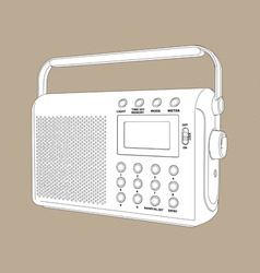 digital radio vector image