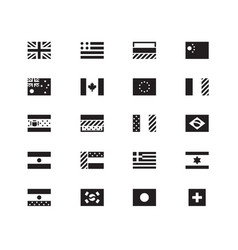 world flag icons on white background vector image