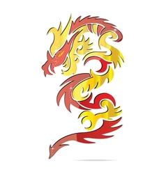 shiny asia fire dragon vector image