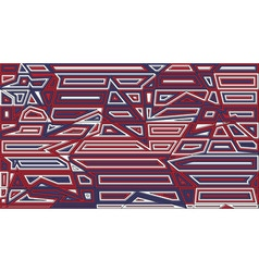 Star lines red and blue background Abstract vector image vector image