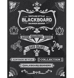 Vintage Chalkboard Design Elements vector image vector image