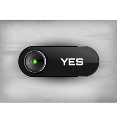 Yes Button vector image