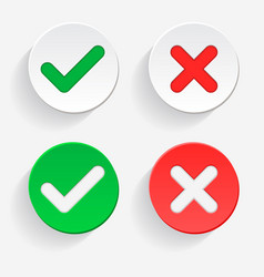 0001-checkmark green tick and red cross vector