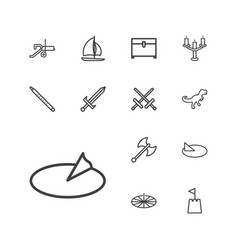 13 ancient icons vector