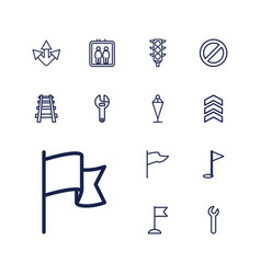 13 direction icons vector