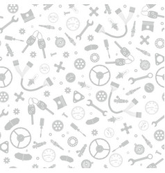 a gray pattern of car parts and elements vector image