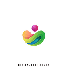 Abstract sphere colorful design template vector