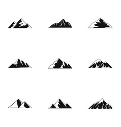 Altitude icons set simple style vector