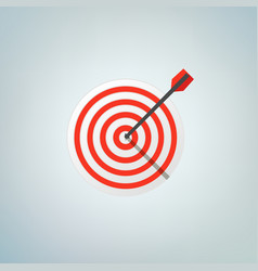 Arrow in bulls eye color vector