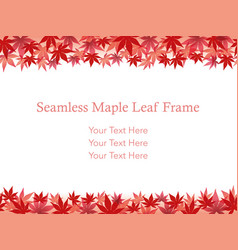 Autumn leaf frame 8 vector